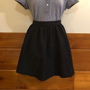 Black Monki Textured Skirt Sz M L NWT holiday
